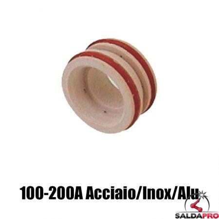 diffusore 100-200a acciaio inox alluminio ricambio torce taglio plasma max200 ht2000 hypertherm 020607