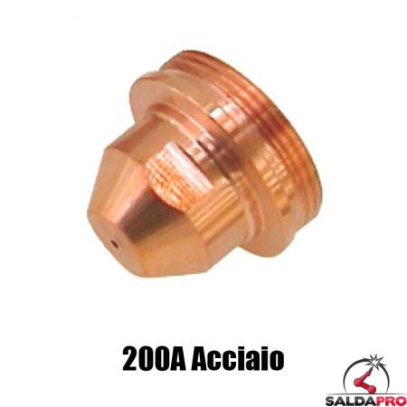 ugello .082 200a acciaio ricambio torce taglio plasma max200 ht2000 hypertherm 020605