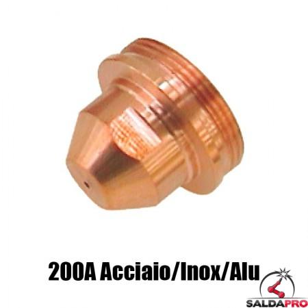 ugello .086 200a acciaio inox alluminio ricambio torce taglio plasma max200 ht2000 hypertherm 020608