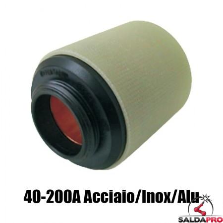 protezione esterna 40-200a acciaio inox alluminio ricambio torce taglio plasma max200 ht2000 hypertherm 020423
