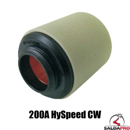 protezione esterna hyspeed 200a cw acciaio inox alluminio ricambio torce taglio plasma ht2000 hypertherm 220238