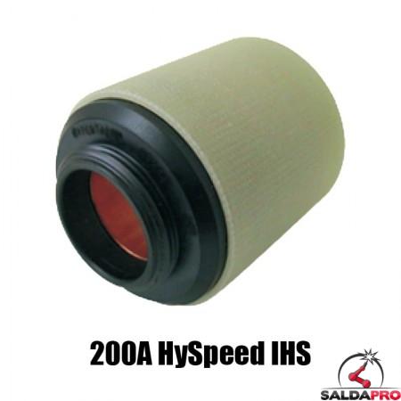 protezione esterna hyspeed 200a ihs acciaio inox alluminio ricambio torce taglio plasma ht2000 hypertherm 220242