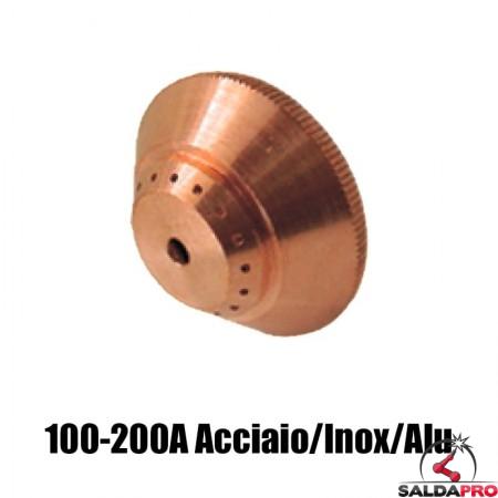 schermo 100-200a acciaio inox alluminio ricambio torce taglio plasma max200 ht2000 hypertherm 020448