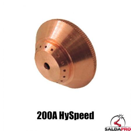 schermo 200a hyspeed acciaio ricambio torce taglio plasma ht2000 hypertherm 220239