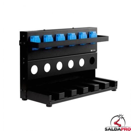 stazione 6 posizioni caricabatterie li-ion 3m respiratore adflo 833706