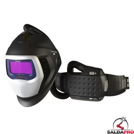 casco da saldatura speedglas 9100 air filtro adf 9100XX e respiratore Adflo 3M 567725