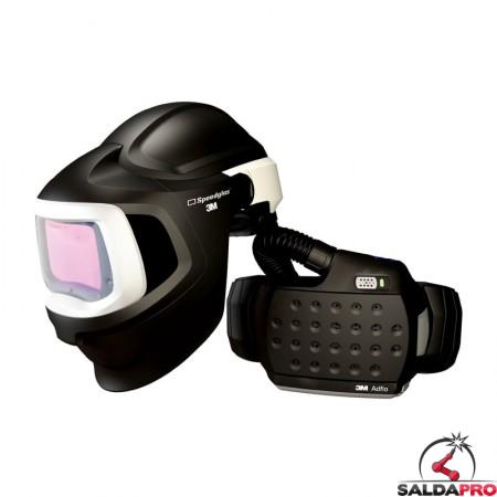 casco saldatura speedglas 9100MP con filtro adf9100X respiratore adflo 3M 577715