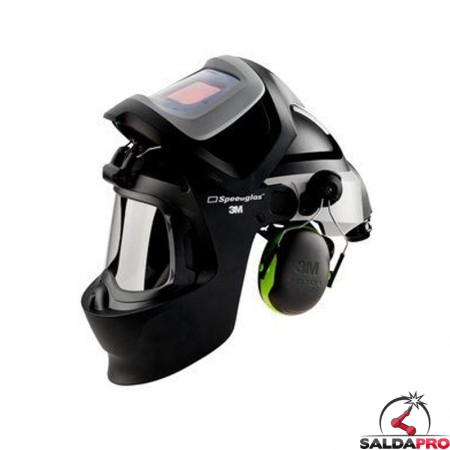 casco saldatura speedglas 9100MP aperto con filtro adf9100XX respiratore adflo 3M 577725