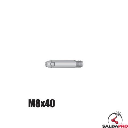 Punta guidafilo M8x40 Ø0,8-1,2mm per torce RH 302 e RM 360 (10pz)
