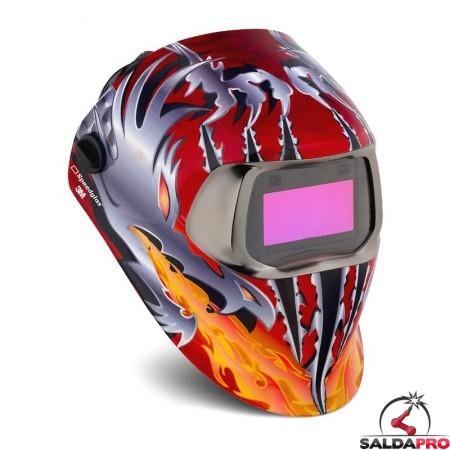 casco da saldatura Speedglas Razor Dragon 100V filtro autoscurante DIN 8-12 3M 752420