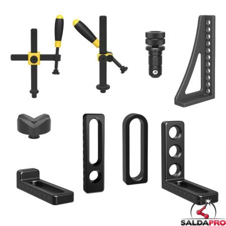 accessori di serraggio tavoli saldatura Siegmund System16 54 pezzi