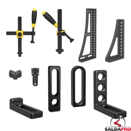 accessori di serraggio tavoli saldatura Siegmund System16 72 pezzi