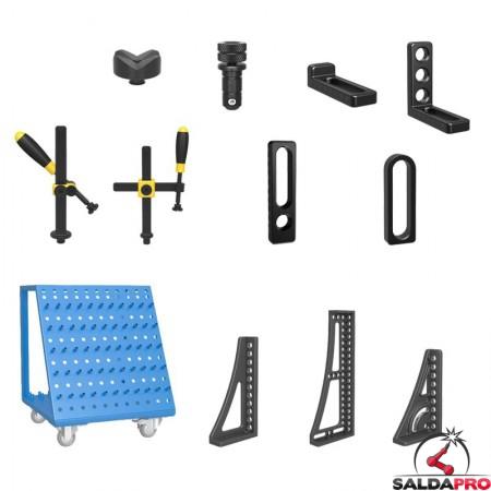 accessori di serraggio tavoli saldatura Siegmund System16 97 pezzi