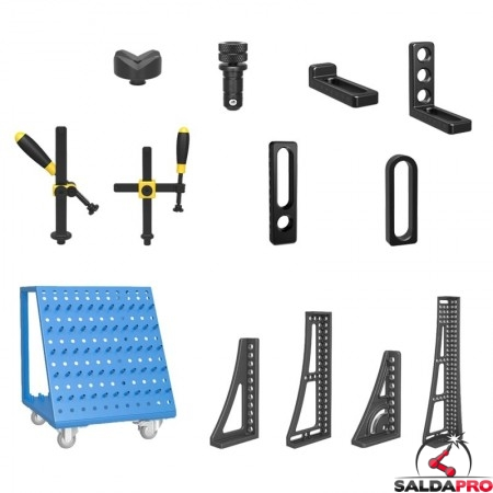 accessori di serraggio tavoli saldatura Siegmund System16 117 pezzi