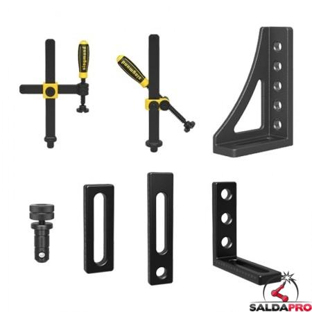 accessori di serraggio tavoli saldatura Siegmund System22 30 pezzi