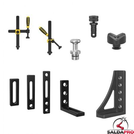 accessori di serraggio tavoli saldatura Siegmund System22 56 pezzi
