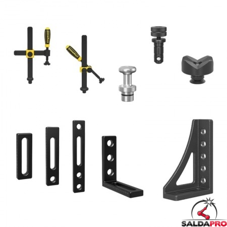 accessori di serraggio tavoli saldatura Siegmund System22 74 pezzi