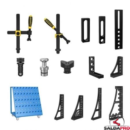 accessori di serraggio tavoli saldatura Siegmund System 28 127 pezzi