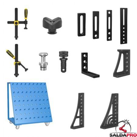 accessori di serraggio tavoli saldatura Siegmund System22 105 pezzi