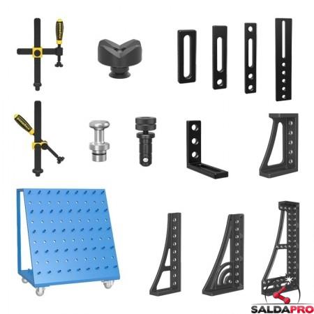 accessori di serraggio tavoli saldatura Siegmund System22 121 pezzi