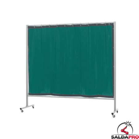schermo di saldatura mobile omnium verde chiaro T6 213x200 cm cepro