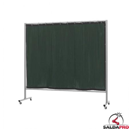schermo di saldatura mobile omnium verde scuro T9 213x200 cm cepro