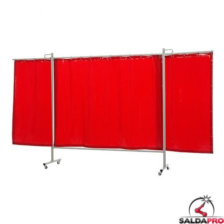 schermo di saldatura mobile omnium arancione T4 375x200 cm a 3 ante cepro