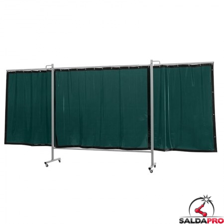 schermo di saldatura mobile omnium verde chiaro T6 435x200 cm a 3 ante cepro