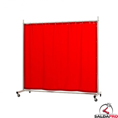 schermo di saldatura mobile robusto arancione T4 210x210 cm cepro