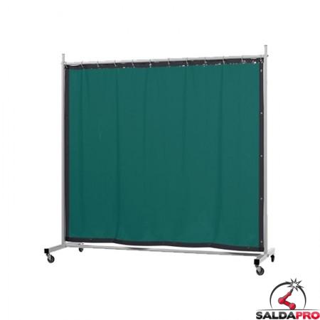 schermo di saldatura mobile robusto verde chiaro T6 210x210 cm cepro