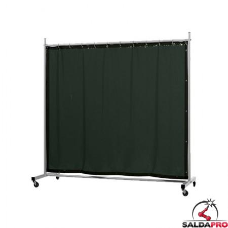 schermo di saldatura mobile robusto verde scuro T9 210x210 cm cepro