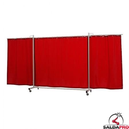 schermo di saldatura mobile robusto XL arancione T4 430x210 cm cepro