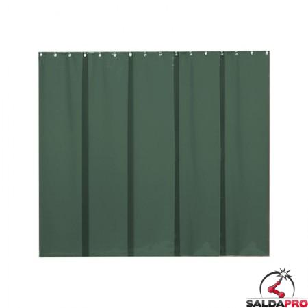 strisce in PVC 500x0,4 mm verde scuro T9 per schermi saldatura cepro