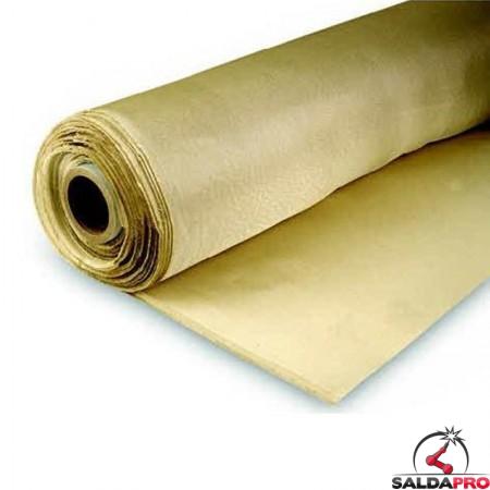 coperta antispruzzo Olympus fibra di silice in rotolo da 50 metri resistente fino a 1000°C