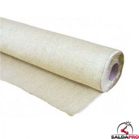 Rotolo tessuto ignifugo Kronos in fibra di vetro resistente fino a 550°C (25 metri)