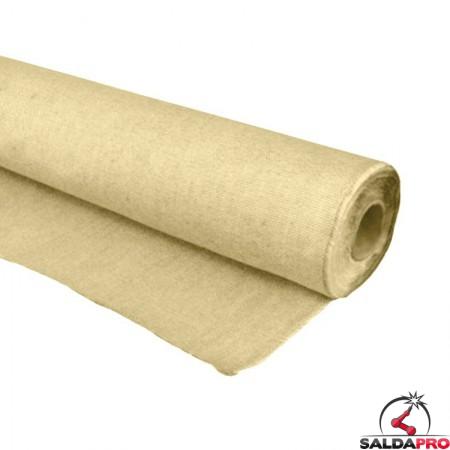 rotolo tessuto ingnifugo sirius in fibra di vetro resistente fino a 750°C cepro 25 metri
