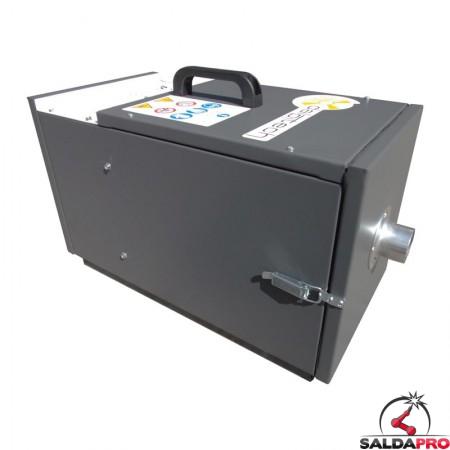 lato depuratore mobile a cartucce MF-150 portata 250mc/h Dalpitech