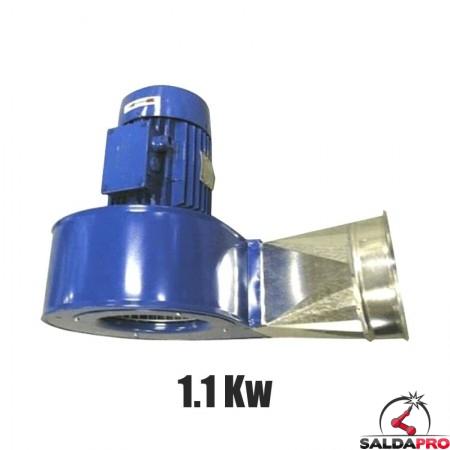 Elettroventilatore centrifugo 1.1 Kw per bracci aspiranti Aspirex Dalpitech