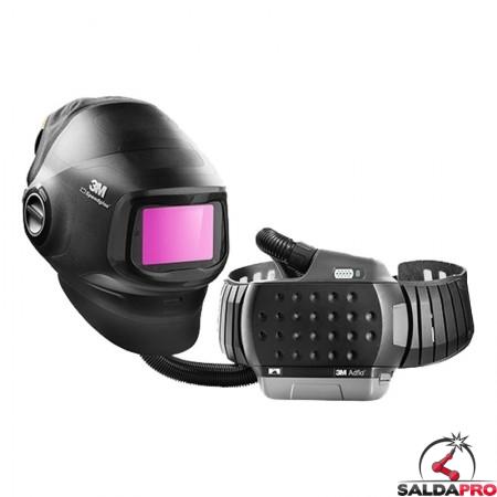 maschera sadlatura 3M Speedglas G5-01 autoscurante din3/8-14 con respiratore adflo
