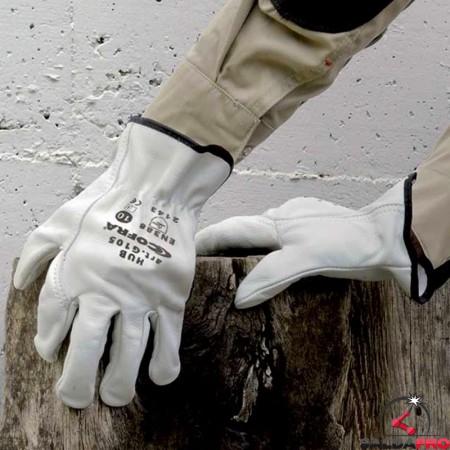 dettaglio guanti per saldatura Cofra Hub