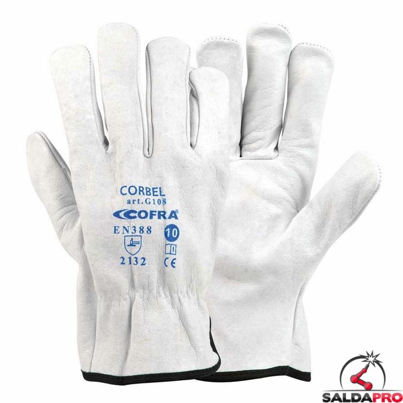 ultima moda codici promozionali ordine Guanti per saldatura Cofra Corbel in pelle fiore bufalo (12paia)