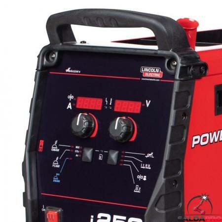 pannello di controllo saldatrice powertec i250C standard lincoln electric