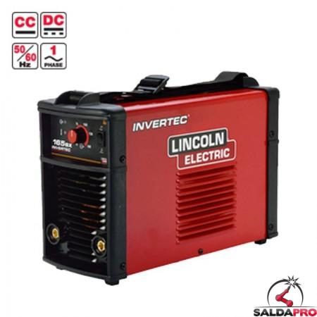 Saldatrice Invertec 165SX Lincoln Electric monofase per la saldatura ad elettrodo MMA e TIG Lift