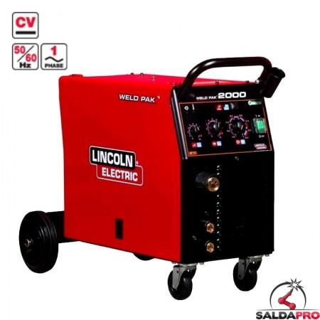 saldatrice multiprocesso weld pak 2000 lincoln electric 230V saldatura mig/mag mma