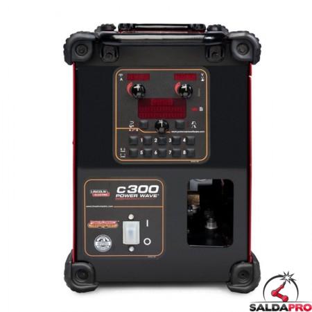 pannello di controllo saldatrice multiprocesso Power Wave C300 Lincoln Electric