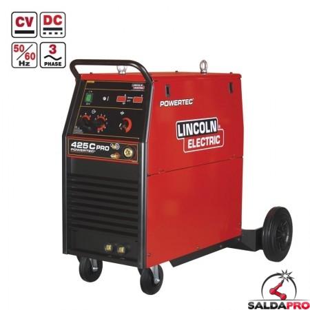 saldatrice powertec 425C PRO 230/400V per saldatura MIG a filo animato Lincoln Electric