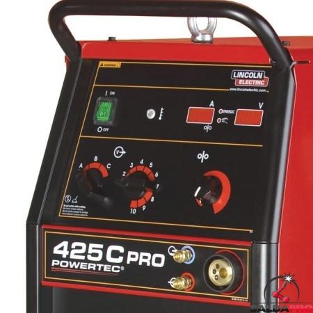 pannello di controllo frontale saldatrice powertec 425C PRO Lincoln Electric