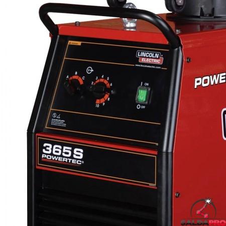 pannello di controllo frontale saldatrice powertec 365S Lincoln Electric