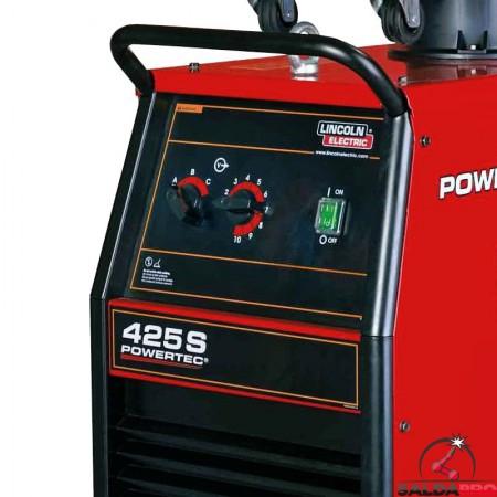 pannello di controllo frontale saldatrice powertec 425S Lincoln Electric