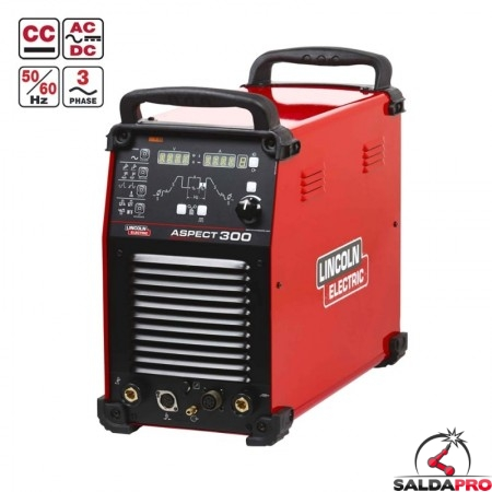 Saldatrice Inverter Aspect 300 Lincoln Electric in tig AC-DC